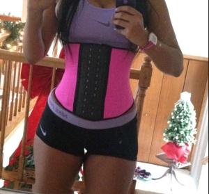 pink waist trainer